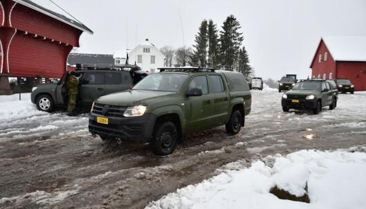 Feltkjøreøty fra HV ankommer Gjerdrum.