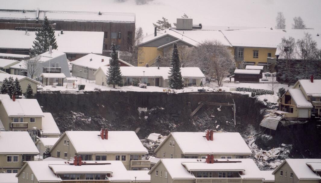 Natt til onsdag 30. desember gikk det et større jord- og leirskred i Ask i Gjerdrum.