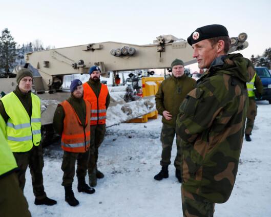Gjerdrum-raset: Forsvarssjefen besøkte redningsmannskapene