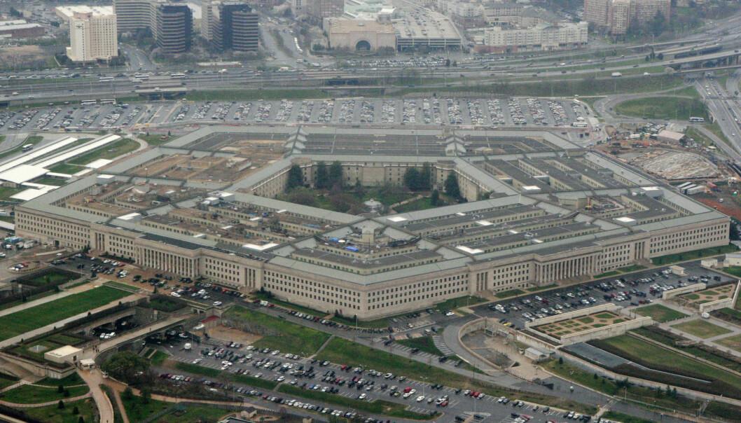 Det amerikanske forsvarsdepartementet, Pentagon, fotografert fra luften i 2008.