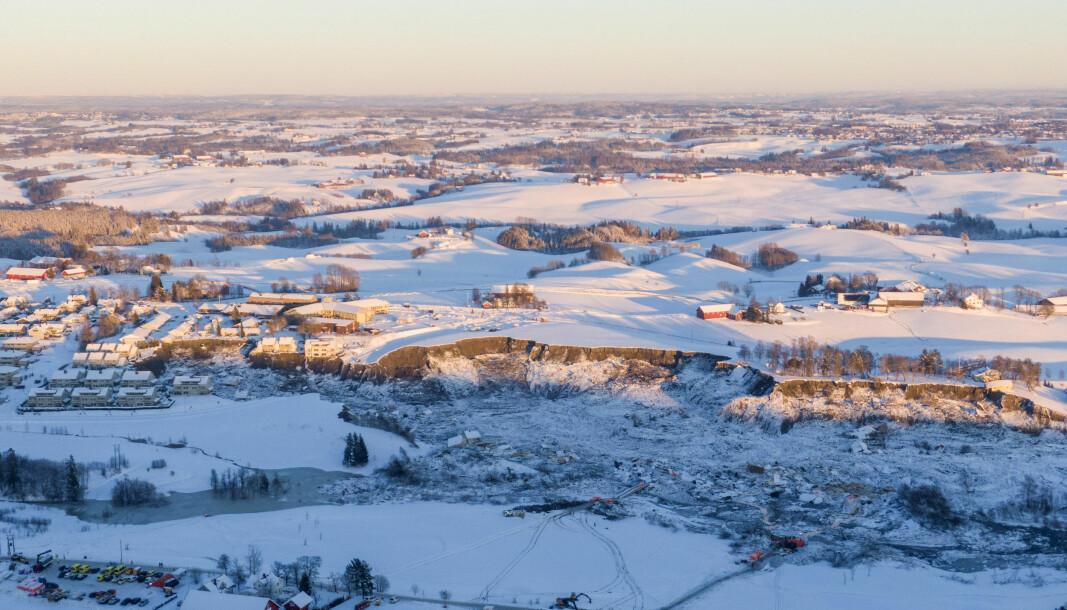 SKREDOMRÅDET: Skredet på Ask i Gjerdrum er det største kvikkleireskredet i Norge i nyere tid.