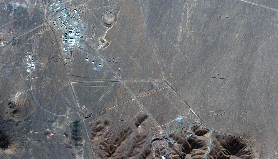 Satelittfoto fra 4. november 2020 viser Irans atomområde. Iranerne sier de trenger uranet til sin forskningsreaktor i hovedstaden Teheran.