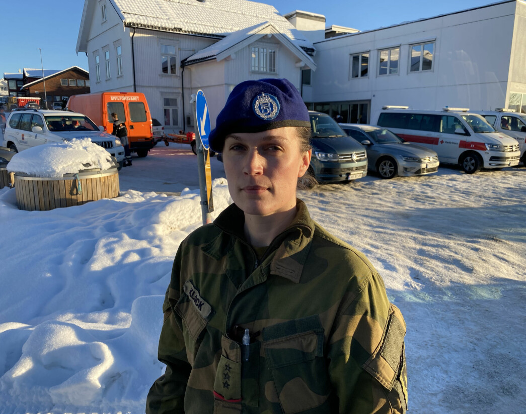 Martine Klock, kompanisjef i Ingeniørbataljonen.