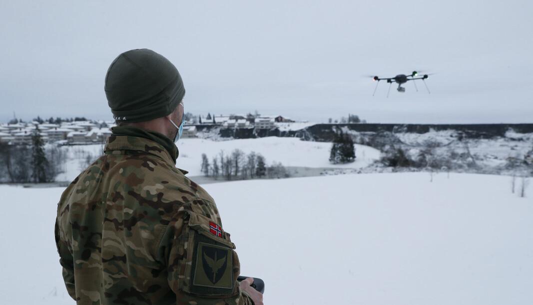 Operatører fra Forsvarets spesialkommando var med på etablere kontroll på luftrommet over skredet på Ask i Gjerdrum.