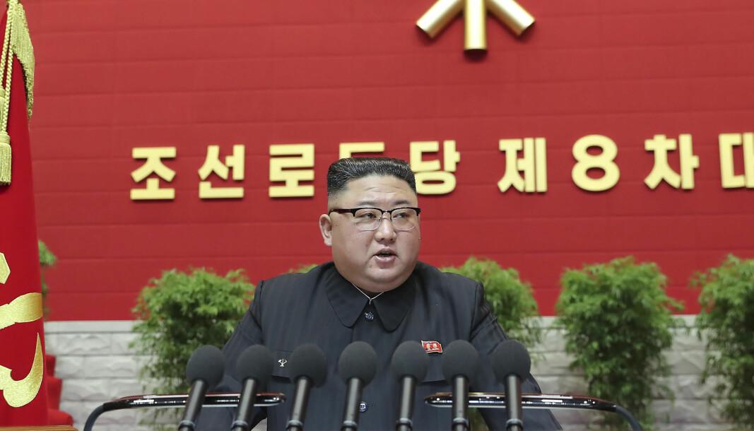 Kim Jong-un taler under kongressen for Nord-Koreas arbeiderparti.