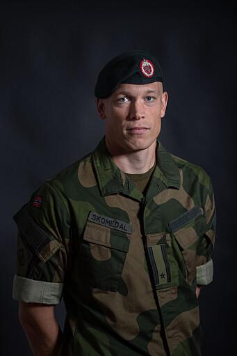 Major Eirik Skomedal er talsperson for Hæren.