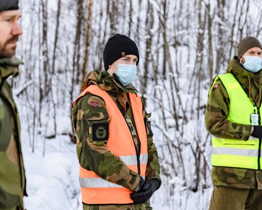 HV-soldater passer også på evakuerte boliger