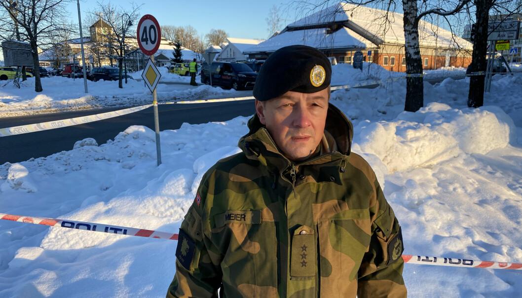 Kaptein Rune Meier er områdesjef i Gjerdrum. Han er del av beredskapsrådet i kommunen.