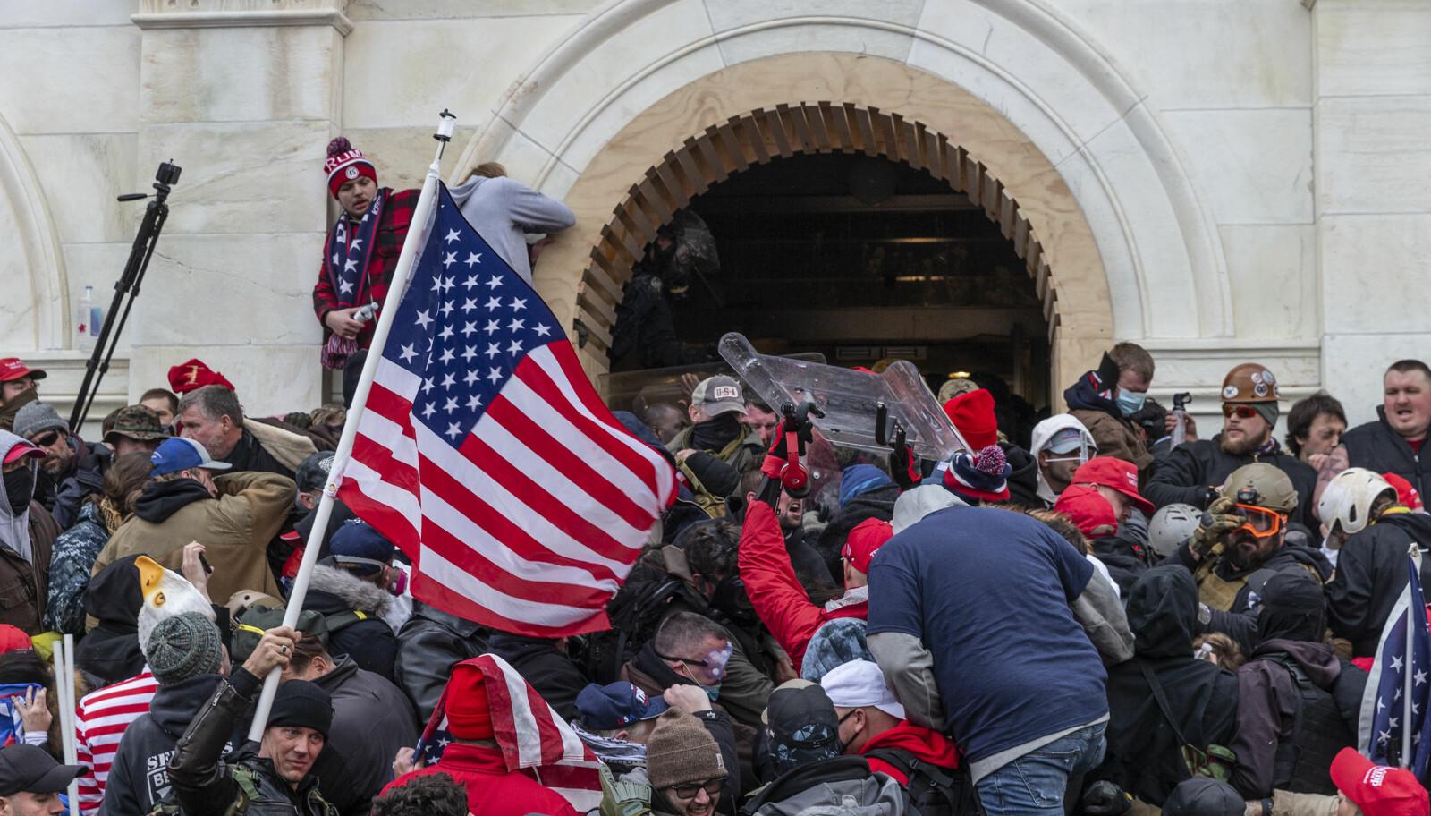 Uroligheter utenfor Kongressen i Washington D.C.