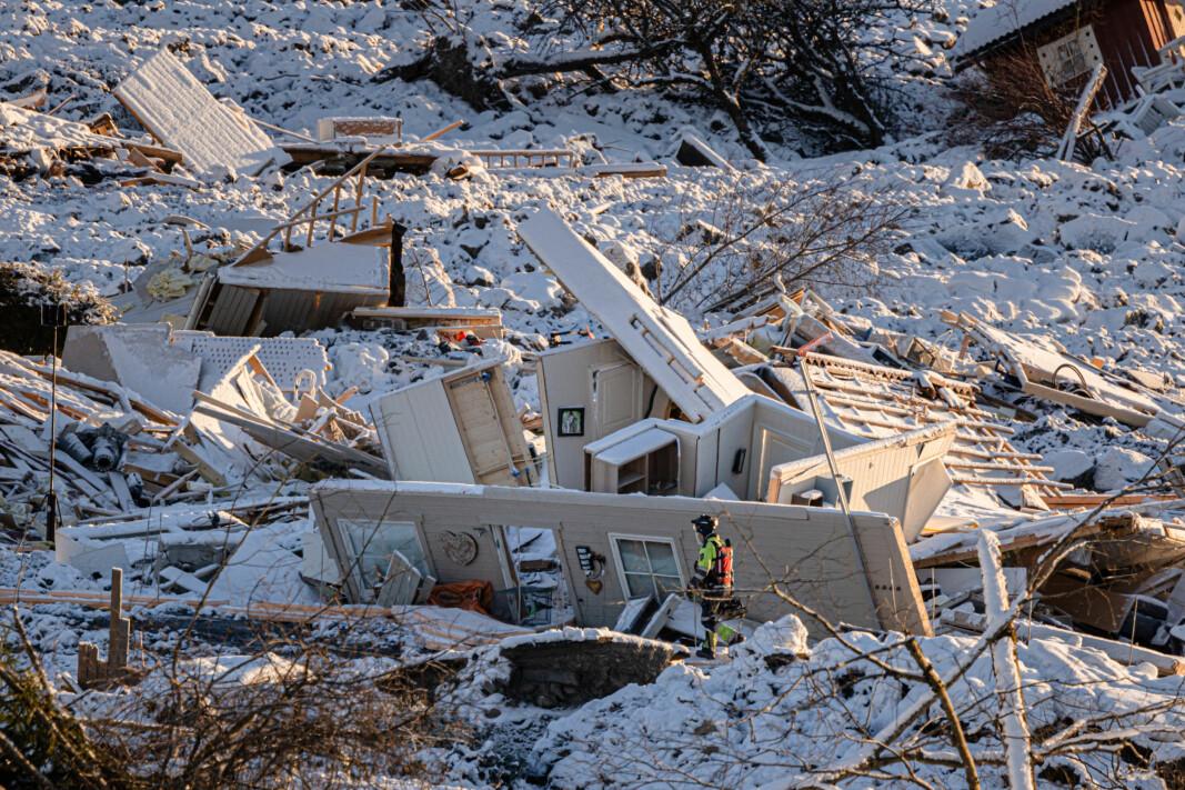Leirskredet på Ask i Gjerdrum kommune knuste flere hus. 10 mistet livet i skredulykken.