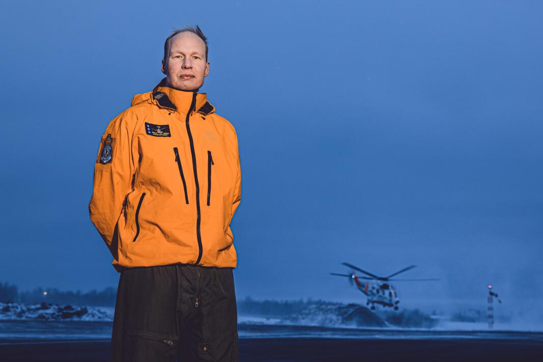 Fartøysjef Jurn van den Bovenkamp i 330-skvadronen, var med på å redde 13 mennesker fra leirskredet på Ask i Gjerdrum.