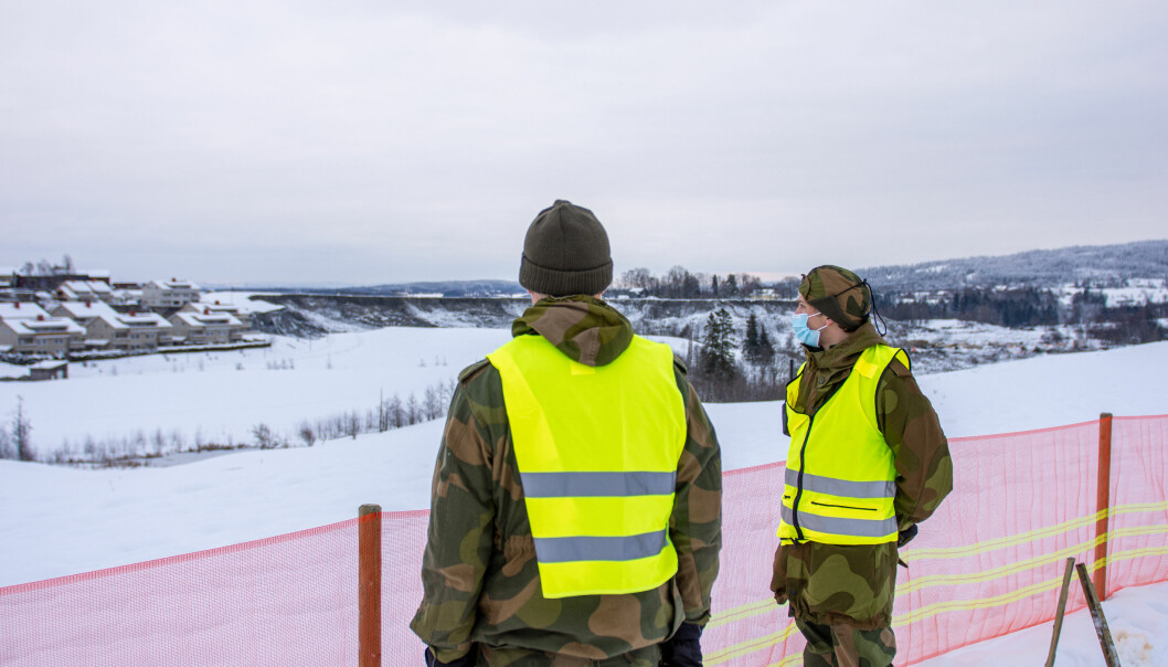 Kandal har blant annet levert refleksvester til HV-soldatene på Gjerdrum.