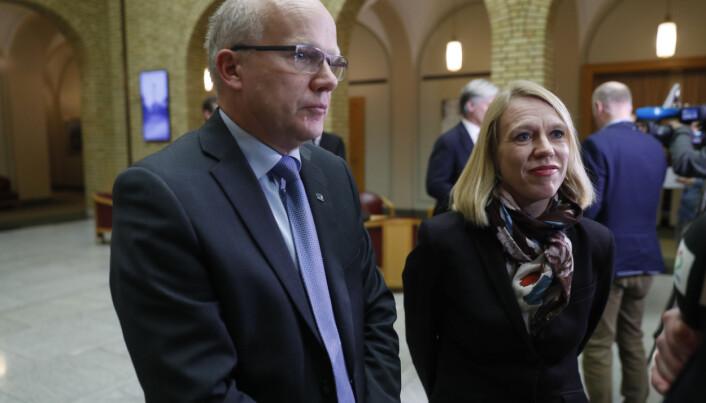 Hårek Elvenes (H) og Anniken Huitfeldt (Ap) sitter begge i Utenriks- og forsvarskomiteen.