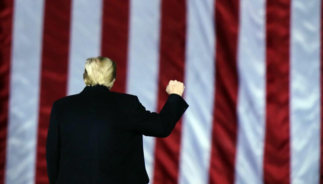 Snart ferdig: Er tiden moden for at det republikanske partiet tar avstand fra president Donald Trump, skriver Vårin Alme. Her ser vi den avtroppende presidenten under tale i januar 2021.