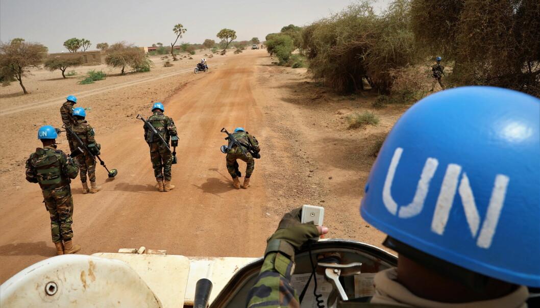 FN-STYRKE: FNs fredsbevarende styrker er i Mali.