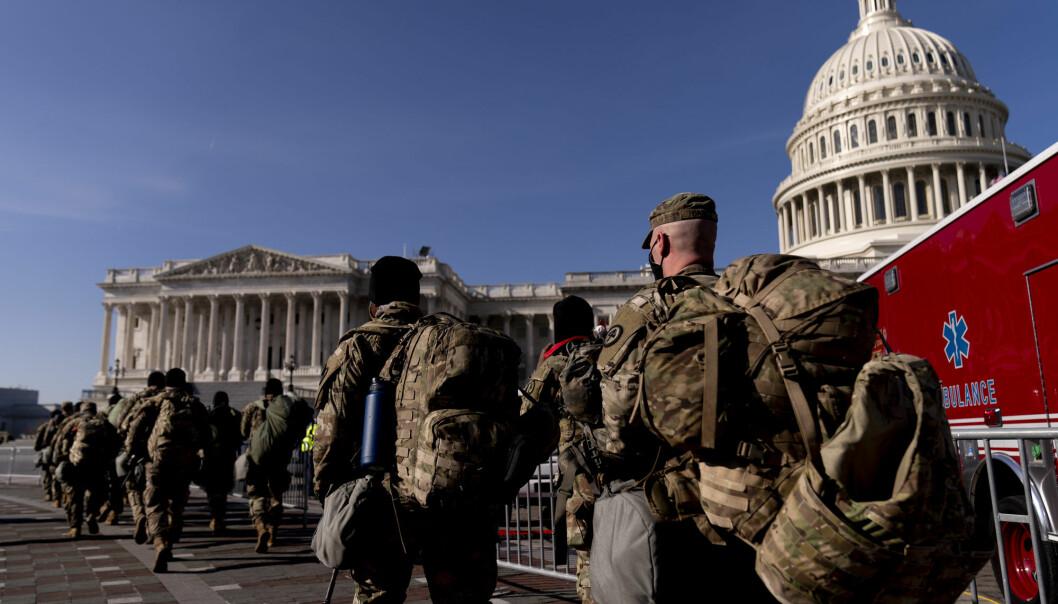 Det har så langt kommet 21.000 soldater fra nasjonalgarden til USAs hovedstad, og det er ventet at antallet øker før innsettelsen av Joe Biden 20. januar.