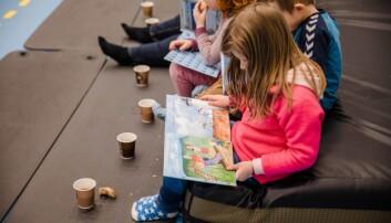 Førskolebarna i Skårungen barnehage deltok på boklanseringen.