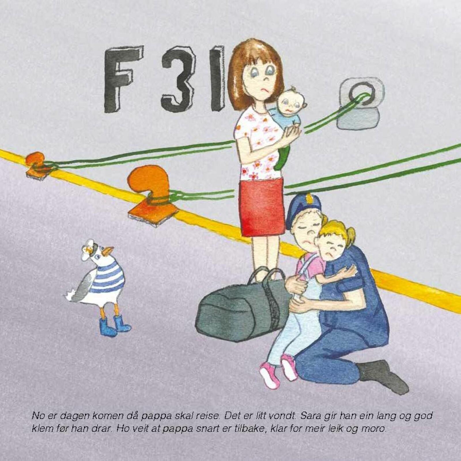 En av illustrasjonene fra boka. Illustratøren har lang fartstid fra Sjøforsvaret.