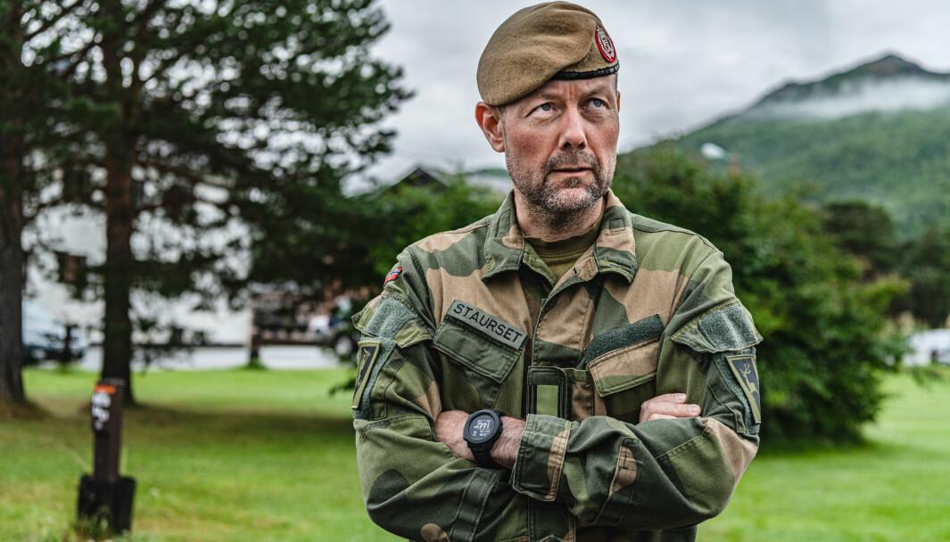 Sjef for 2. bataljon, oberstløytnant Werner Staurset.