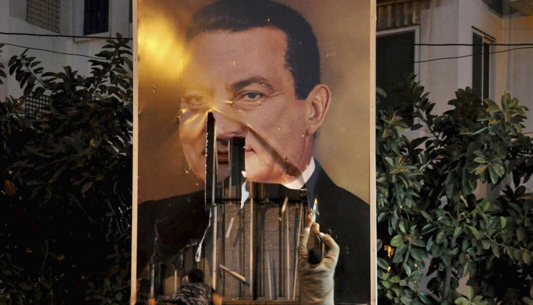 2o dager etter massedemonstrasjonen i 2011 på Tahir-plassen i Kairo, gikk Hosni Mubarak av som president.