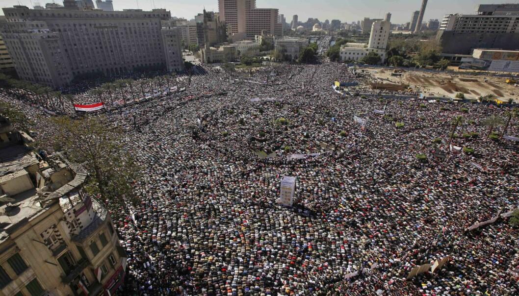 Egyptere feiret fallet av Hosni Mubarak i 2011.