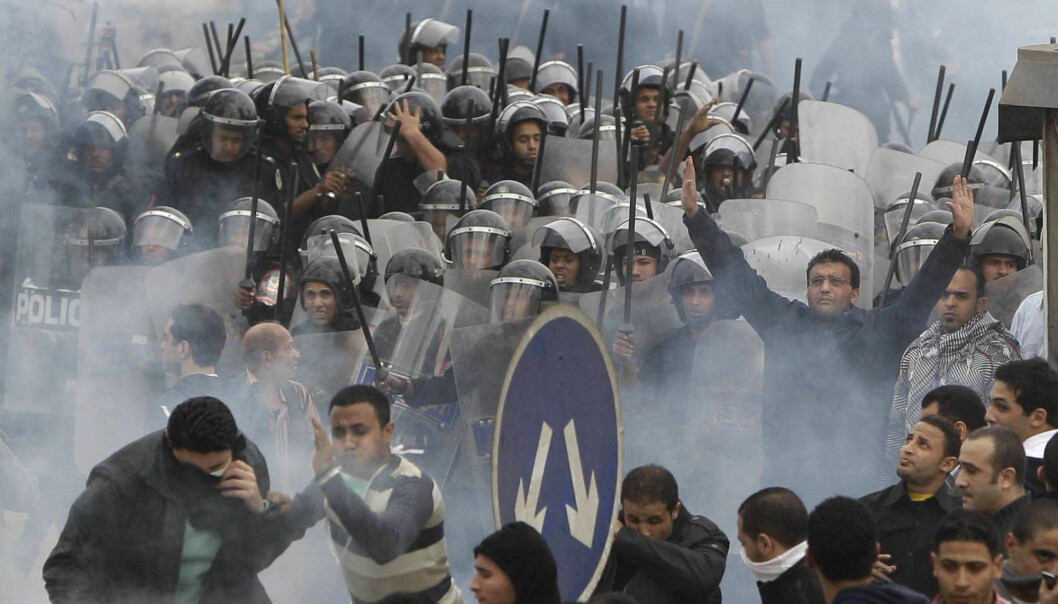Egyptiske myndigheter avviser at det finnes politiske fanger i landet. Dette bildet er fra opprør etter Mubaraks fall i 2011.