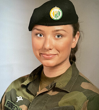 TILLITSVALGT: hovedtillitsvalgt i Hæren, Linnea Huseby Røbech