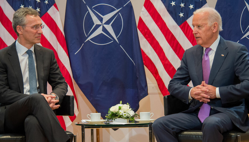 Bilateral meeting between NATO Secretary General Jens Stoltenberg and US Vice President Joe Biden