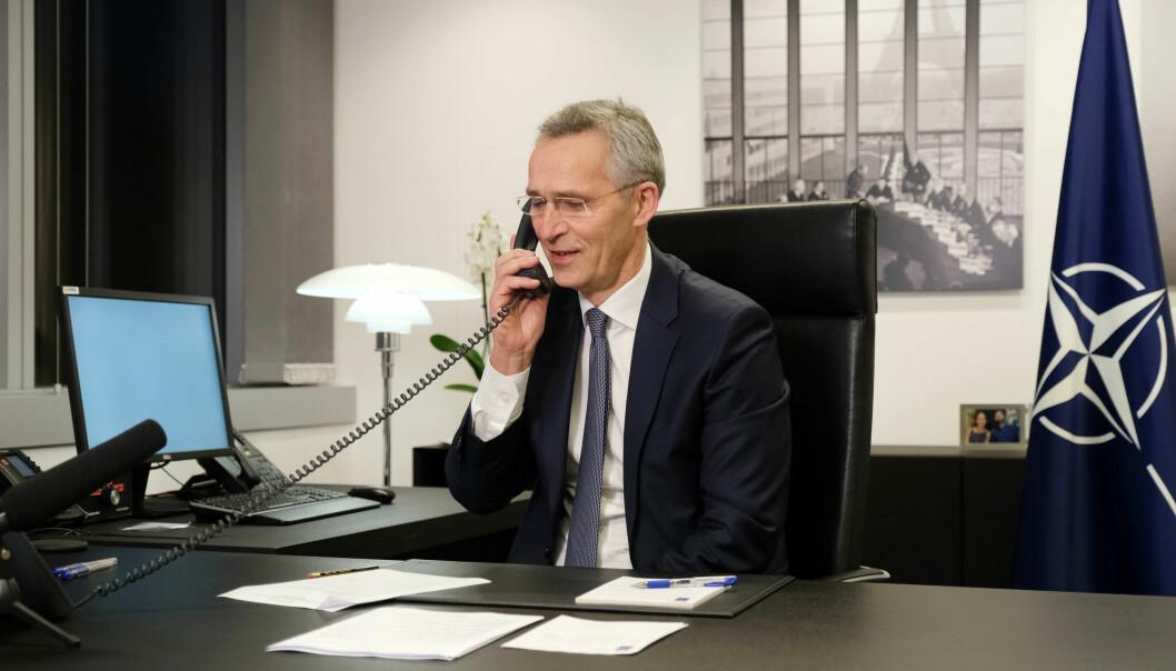 TRANSATLANTISK TELEFONSAMTALE: NATOs generalsekretær Jens Stoltenberg snakket tirsdag for første gang med USAs president Joe Biden etter innsettelsen.