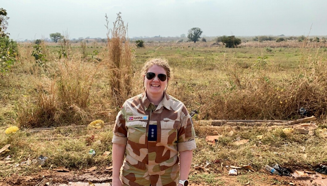 Kaptein Hanna Sesselja Mikalsen tjenestegjør som stabsoffiser ved hovedkvarteret til FNs misjon i Sør-Sudan.
