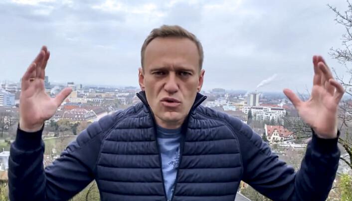 Aleksejk Navalnyj i Tyskland, der han fikk behandling etter å ha blitt forgiftet med kjemikaliet Novitsjok.