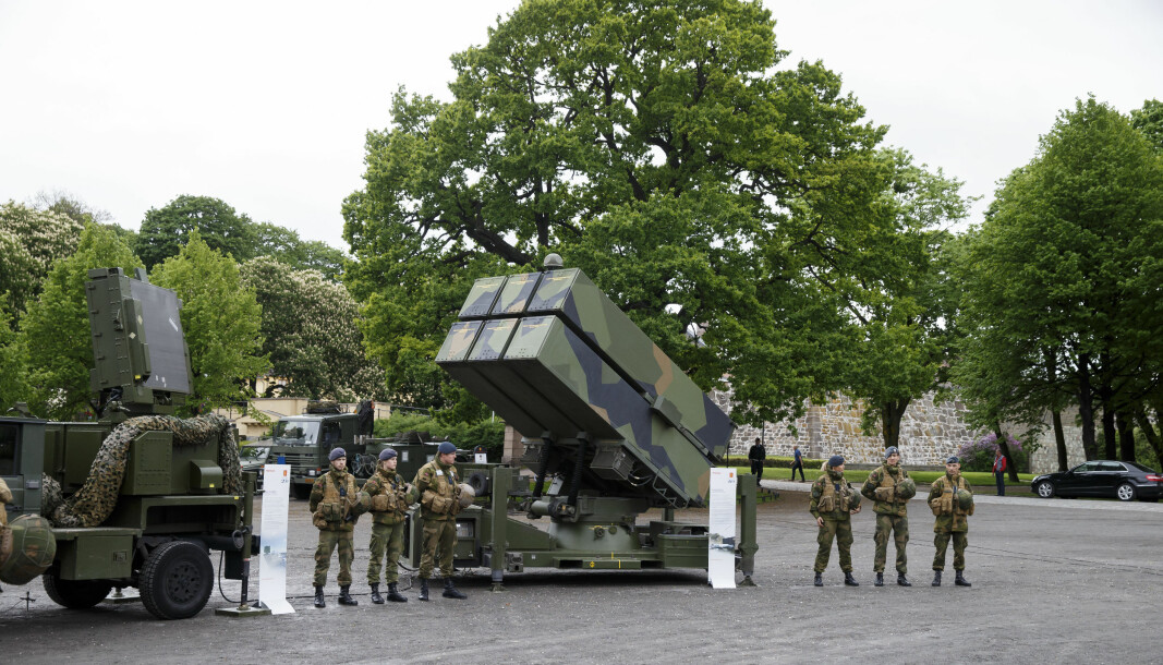 EKSPORTERES: NASAMS, Norwegian Advanced Surface to Air Missile System, på Festningsplassen i Oslo.