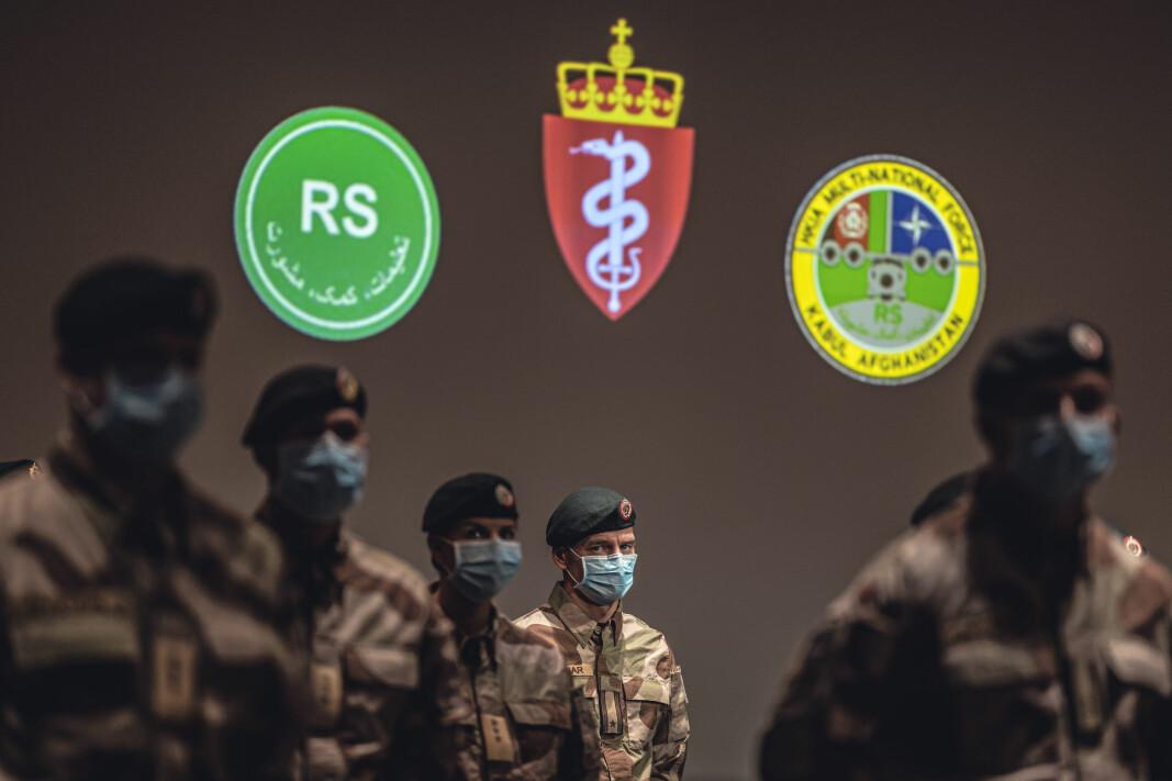 Den første kontigenten fra det norske sanitetbidraget i Kabul ble takket for sin innsats under en medaljeseremoni i oktober.