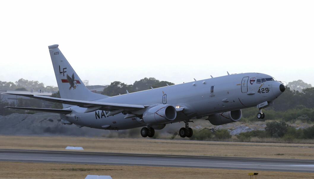 Et amerikansk P-8 Poseidon tar av fra Perth lufthavn i Australia i 2014. Norge har bestilt fem fly av typen.