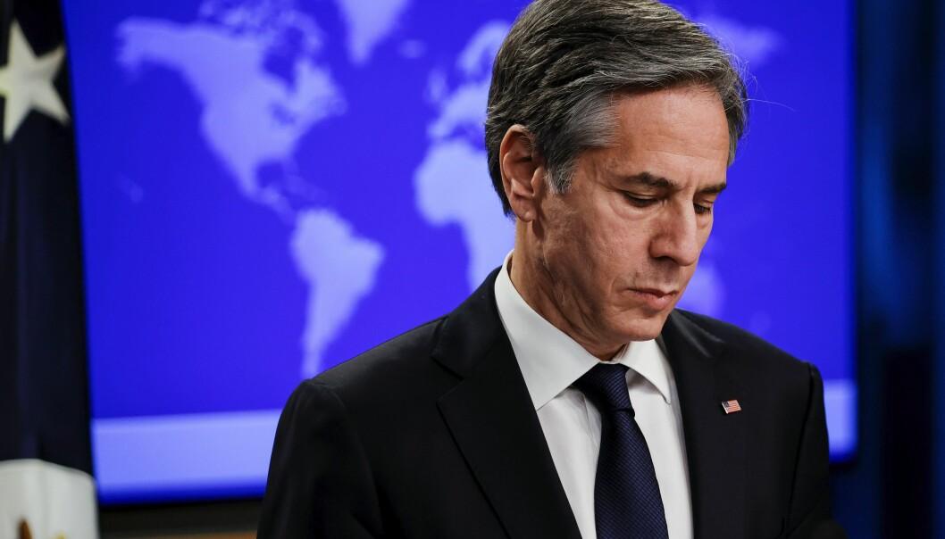 AVTALE: Utenriksminister Antony Blinken kunngjorde forlengingen av Ny start-avtalen onsdag.