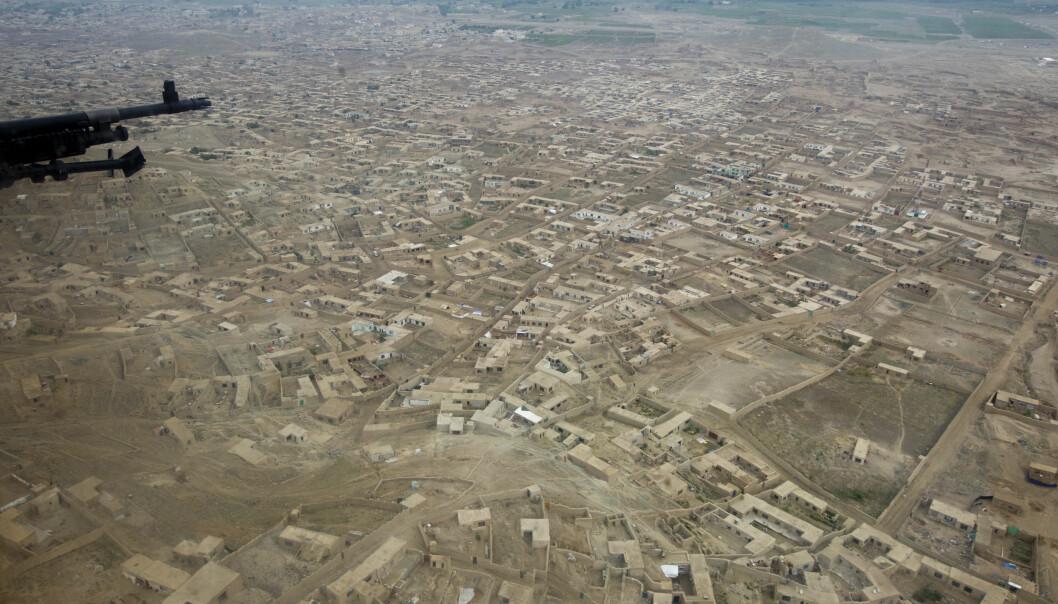 KABUL: Afghanistans hovedstad Kabul sett fra luften.