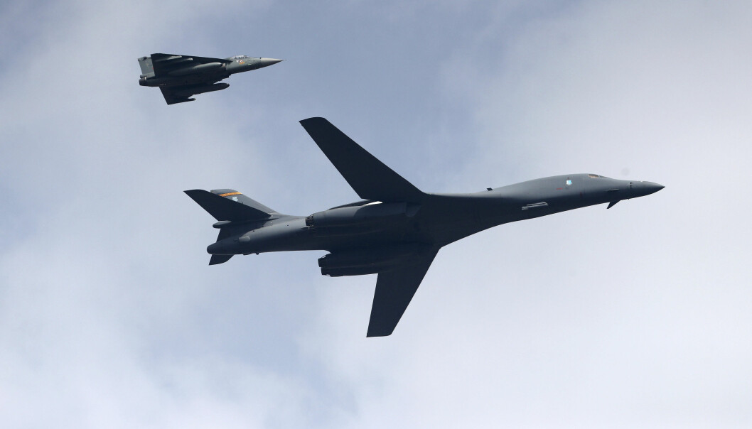 Amerikanske bombefly av denne typen, B-1B Lancer, er nå utplassert på norsk jord. Det bekymrer Russland.