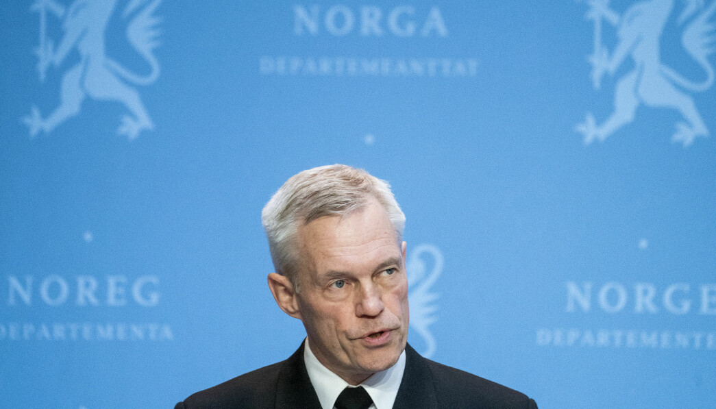 TRUSLER. Sjef for Etterretningstjenesten, viseadmiral Nils Andreas Stensønes, peker på Russland og Kina under i sin trusselvurdering.
