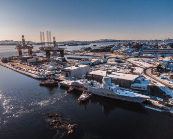 Nå har KNM Helge Ingstad nådd destruksjonsstedet