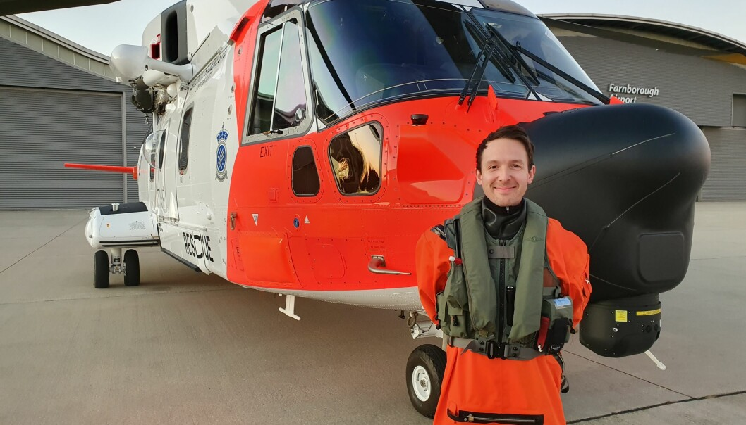 Kaptein Erik Hals flyr Forsvarets nye redningshelikoptre fra Sola.