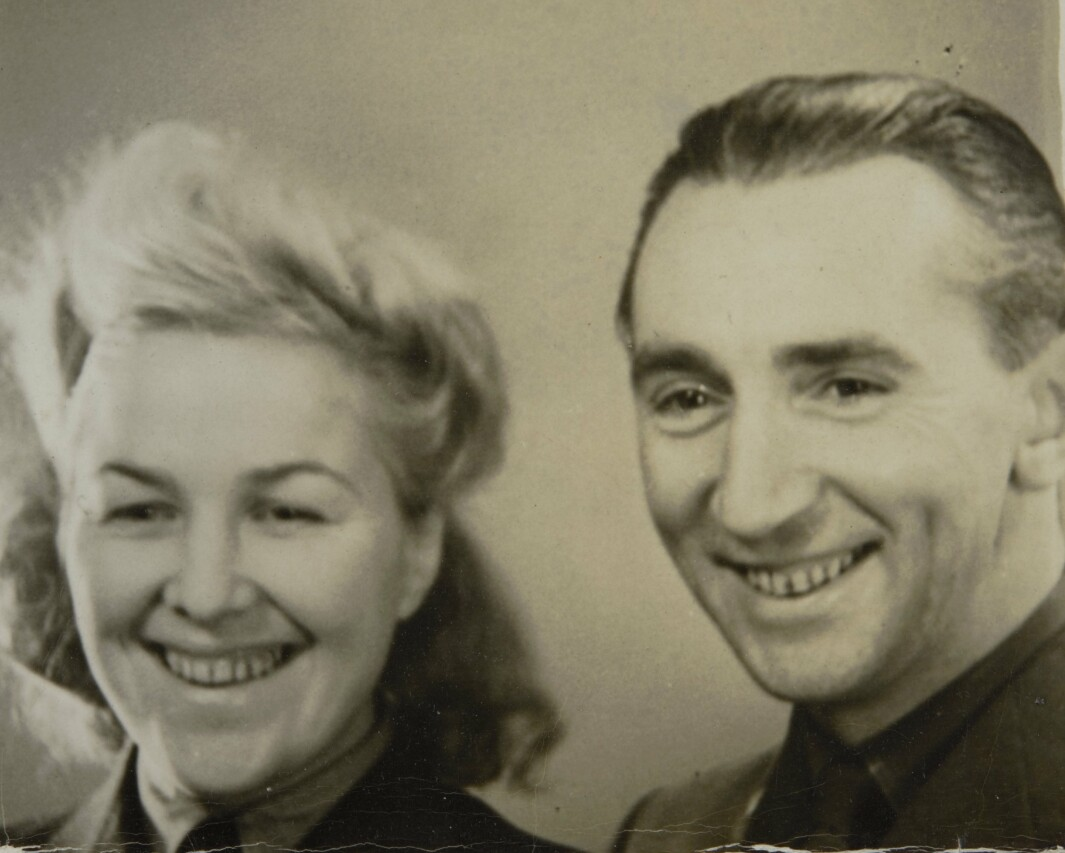 Liv Grannes og hennes første mann, nordmannen Nils Berdahl. Nå kommer filmen om Grannes.
