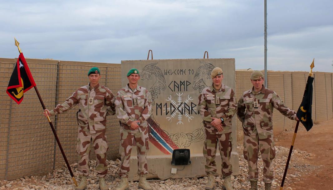 Command team fra SECFOR 1 og SECFOR 2 .