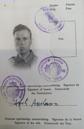 Dette var Malcolm Munthes falske pass.