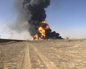 Branninferno på grensen mellom Afghanistan og Iran