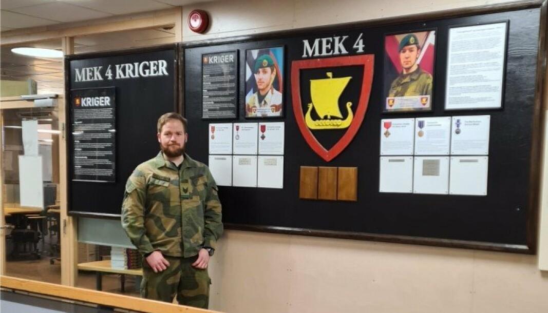Terje Tellefsen er som regel blant de første inn på arbeidsplassen i Telemark bataljon.