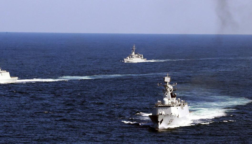SØTKINAHAVET: Kinesiske marinefartøy under en øvelse i Sørkinahavet i 2012.