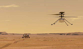 Mars-helikopteret har meldt seg
