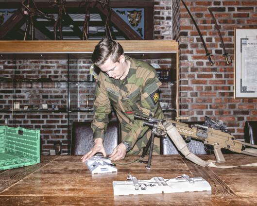 Han ville gjere noko med at det mangla ei løysing som gjer at maskingeværa fungerer optimalt vinterstid