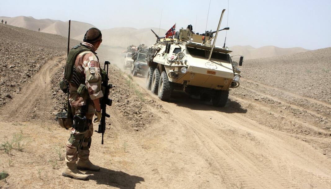 MISTENKES: Taliban mistenkes for å ha stått bak en rekke målrettede drap mot journalister. Bildet viser Norske soldater i Afghanistan.