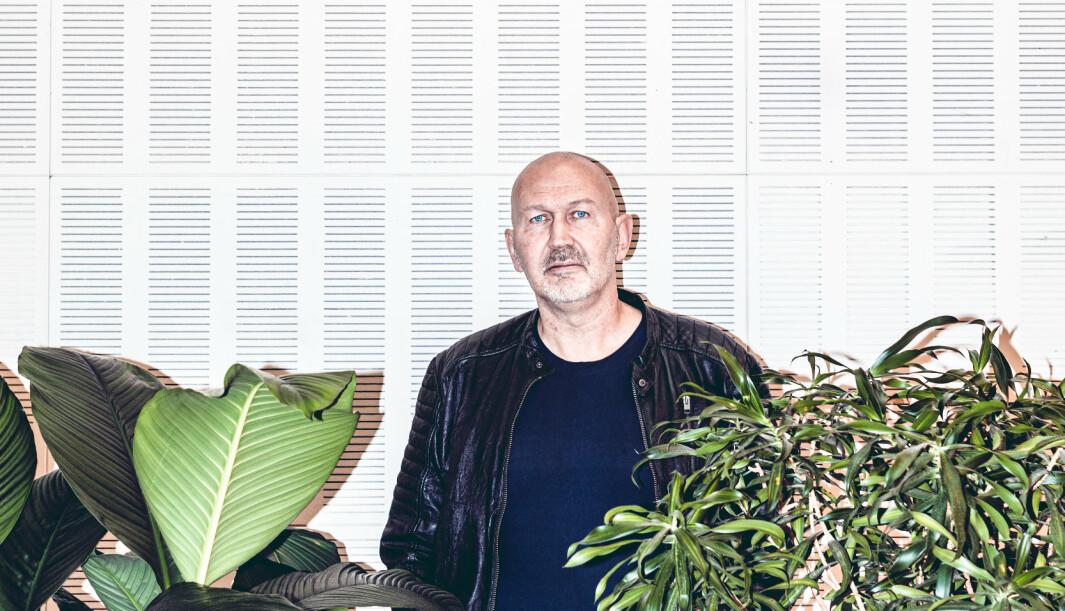 Portrett med Per «Bombe-Per» Nergaard, Assisterende generalsekretær i Norsk Folkehjelp.